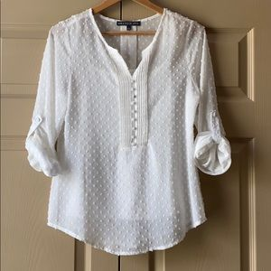 Brixon Ivy Eugene Swiss Dot Blouse with Ca…